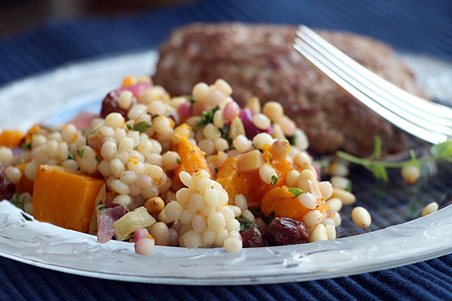 Israeli Couscous with Butternut Squash & Preserved Lemon