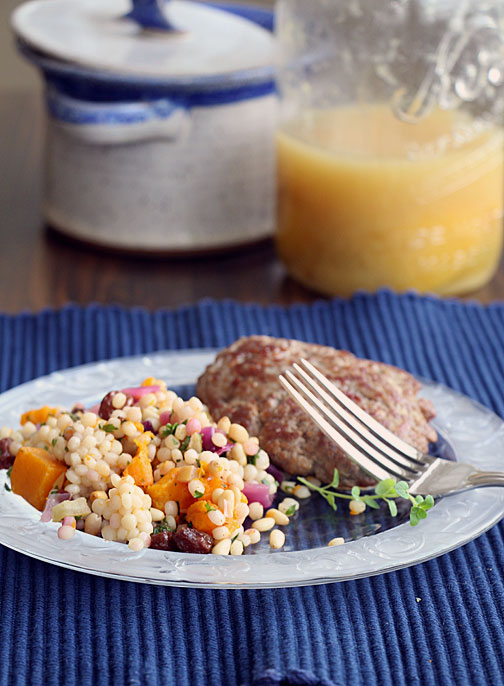 Israeli Couscous with Butternut and Preserved Lemon--served with lamb