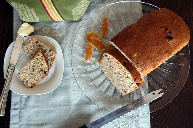 Serving Orange Currant Bread