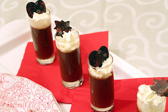 Pot de creme, with varied toppers