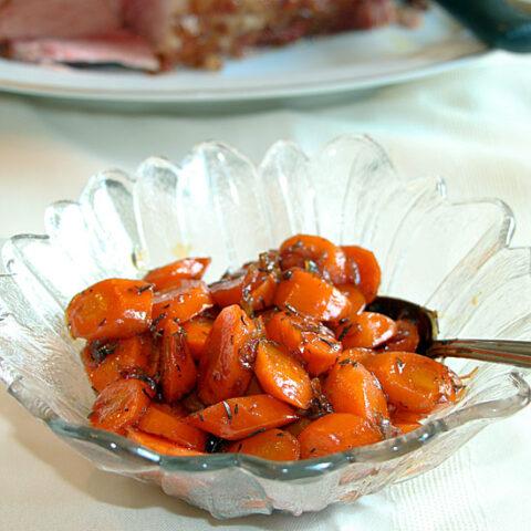 Maple Balsamic Glazed Carrots