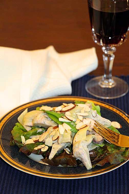 Artichoke Salad, Served