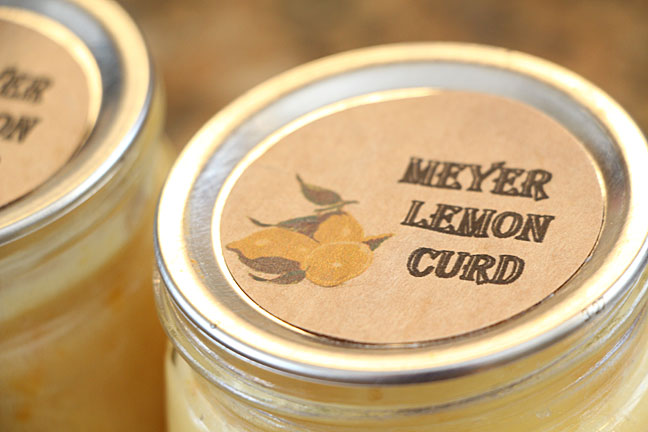 Meyer Lemon Curd Printable Canning Label
