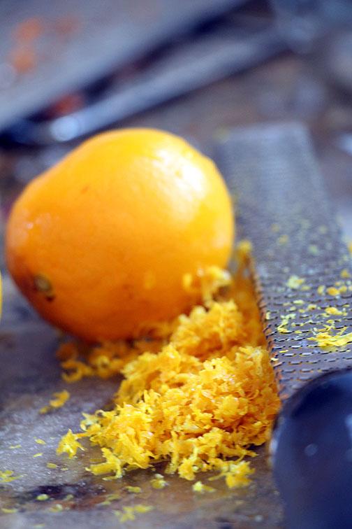 Zesting a Meyer Lemon