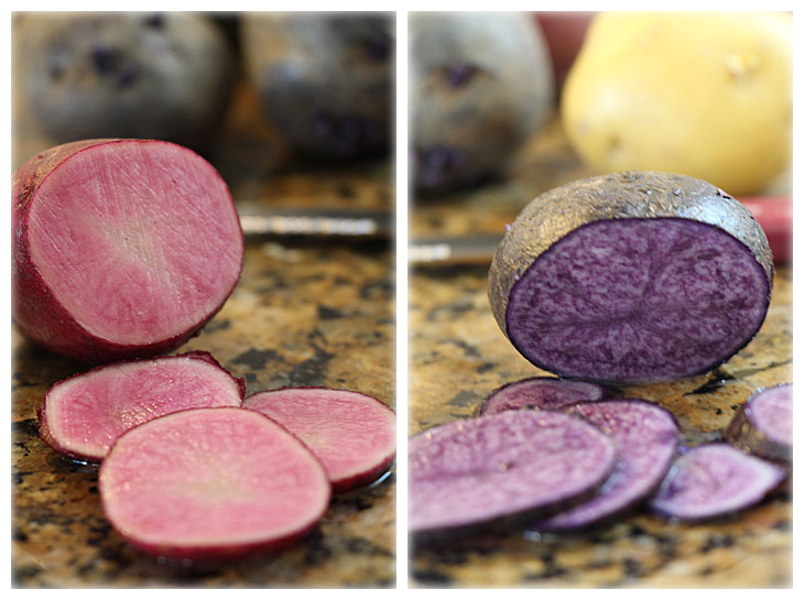 Pink and Purple Potatoes!