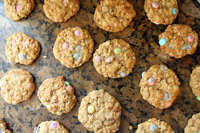 M&M Cookies in a Jar--Cooling