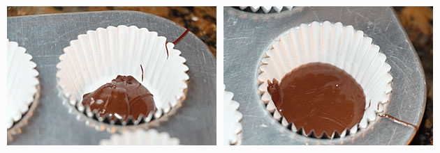 Creating bottom layer of PB Cup