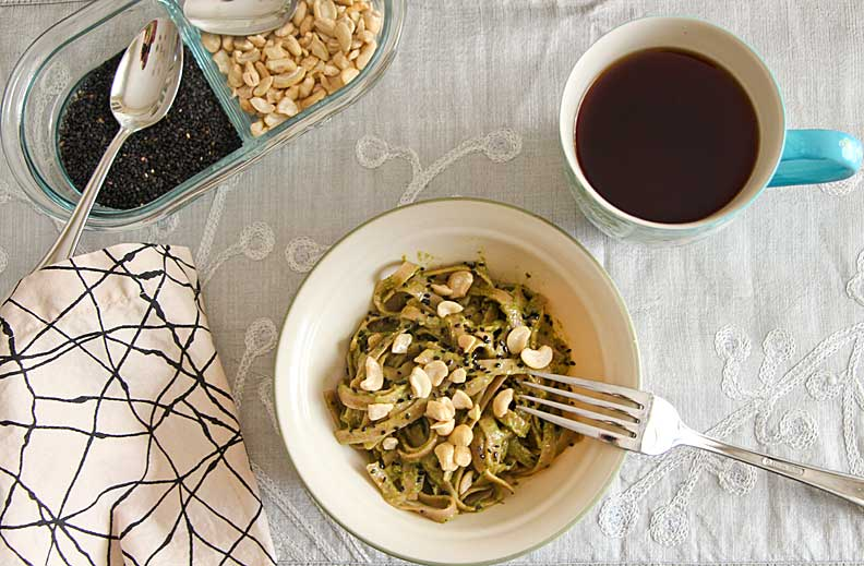 Thai Green Noodles (with Swiss Chard–shhh)