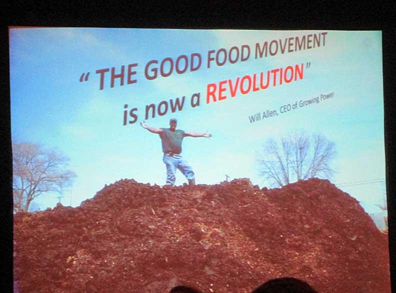 Presentation Slide--Will Allen on Compost Pile