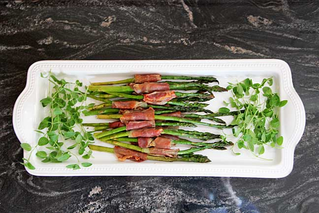 Green Your Mother's Day & Prosciutto Wrapped Asparagus