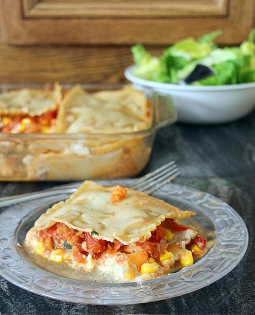 Southwest Lasagna Served