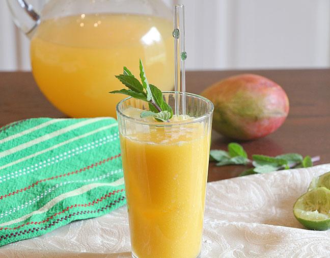 Mango Lime Agua Fresa, Served
