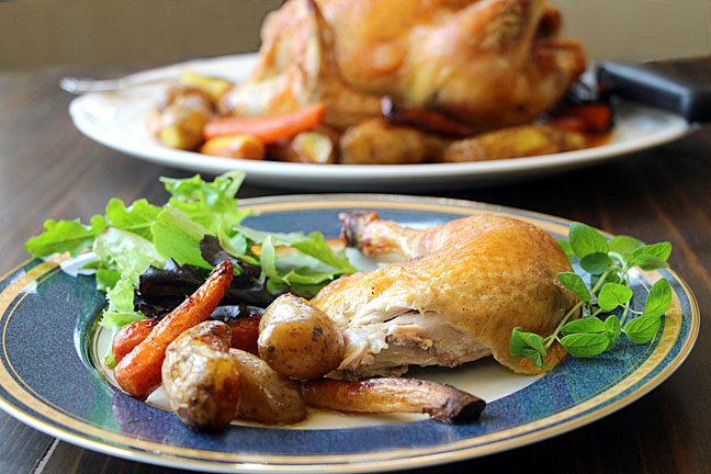 Roast Chicken Served