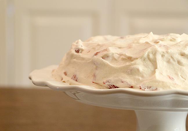 Strawberry Meringue Dessert Closeup