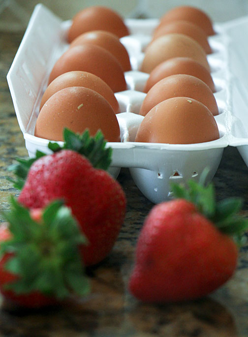 Berries and eggs