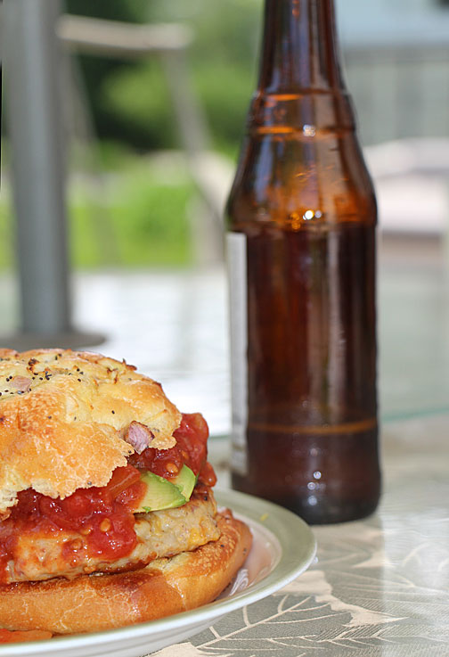 chicken-burger-and-beer