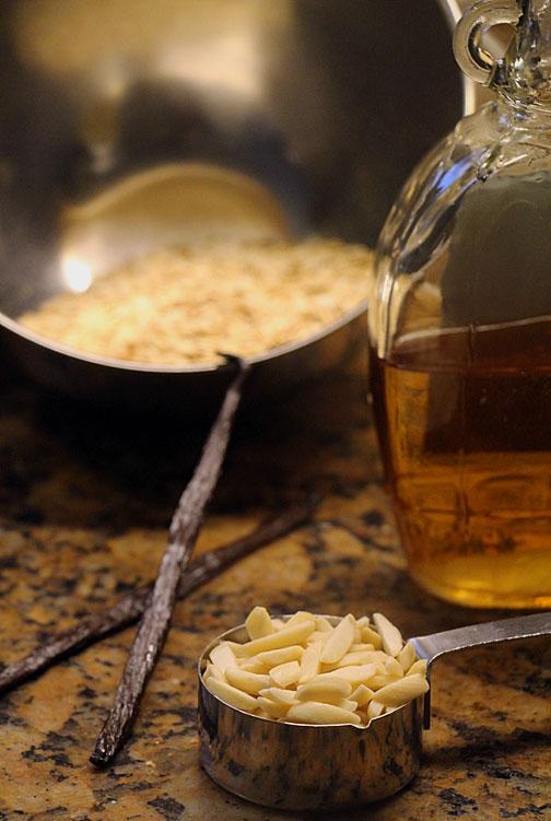 Maple vanilla granola ingredients