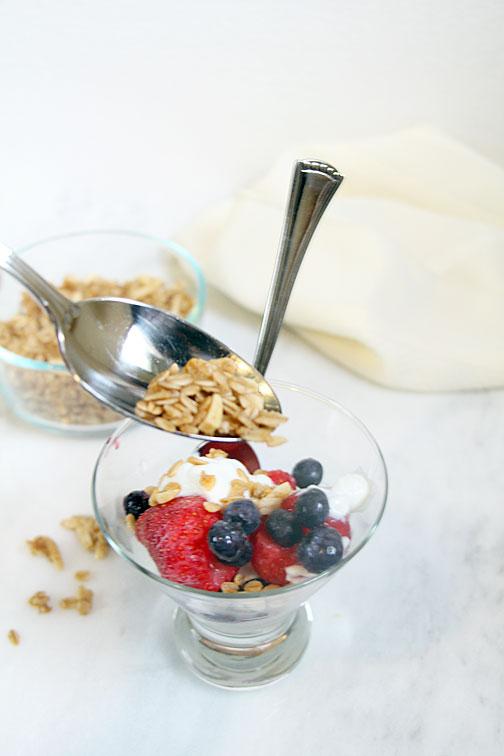Granola on Yogurt