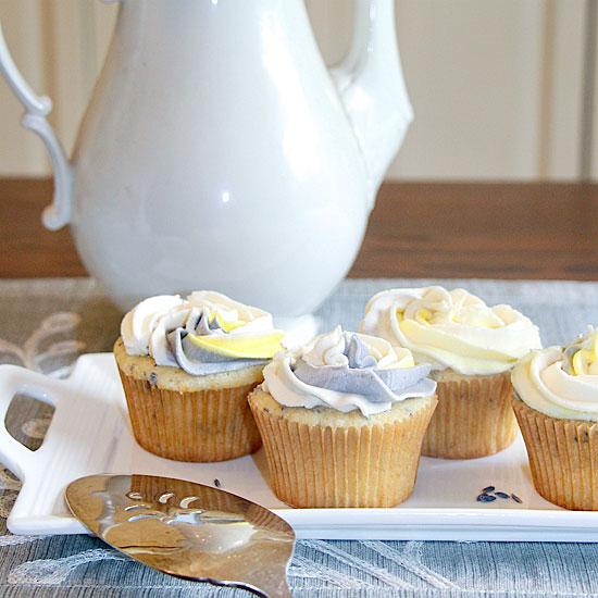 Party or Picnic Lemon Lavender Cupcakes