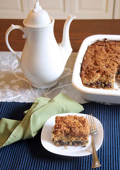 Blueberry Coffeecake Served