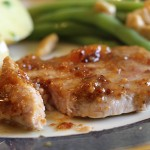 Peach Mustard Glazed Pork Chops