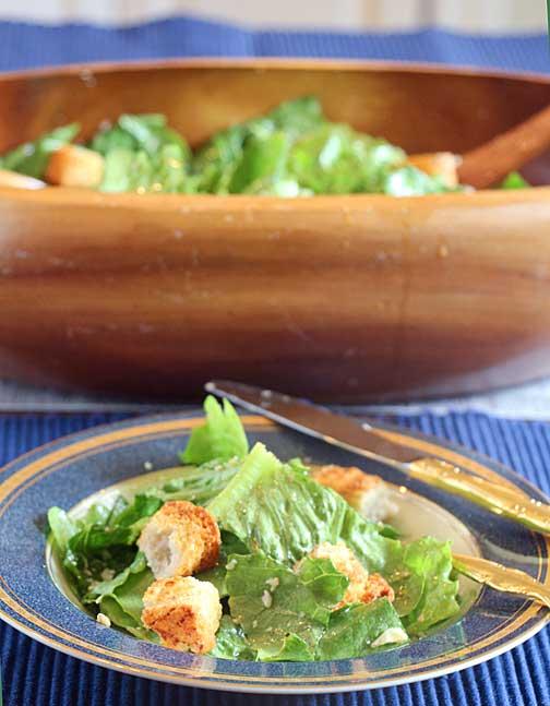 casear-salad-served
