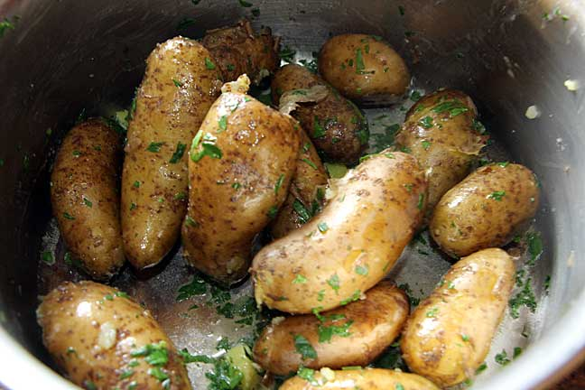 Toss with butter and parsley