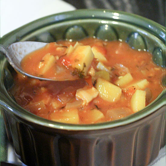 Manhattan Clam Chowder (or Never Vacation with Ugly Tomatoes)