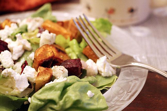Roasted Vegetable Salad, up close
