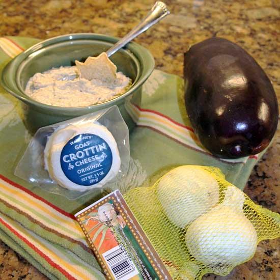 Eggplant Goat Cheese Dip