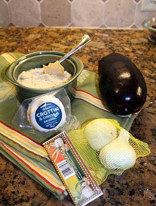 Eggplant Goat Cheese Dip Ingredients