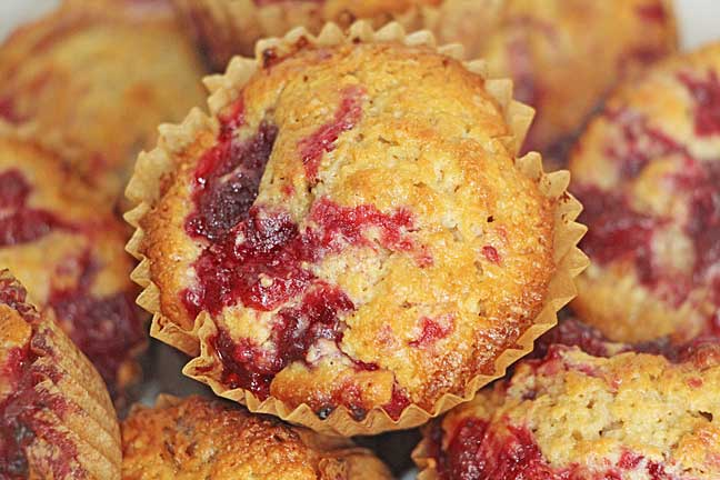 Cranberry Swirl Muffin Closeup