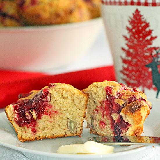 Cranberry Swirl Muffins (or Jam Swirl, or…)