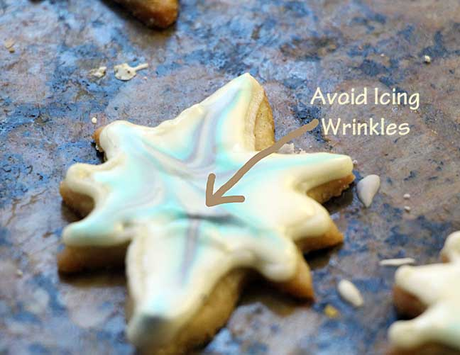 Star Cookie with wrinkled icing