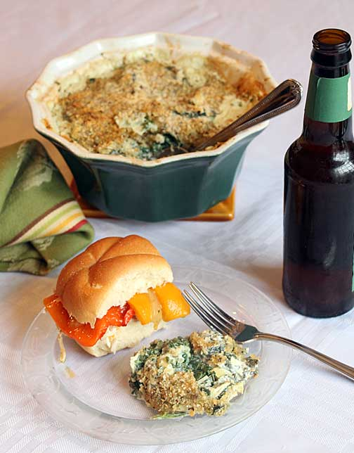 Creamy Baked Spinach with Artichokes