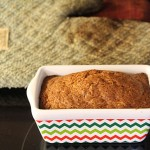 spiced peach bread mini-loaf