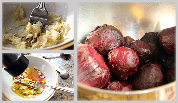 Making Garlic Roasted Beets