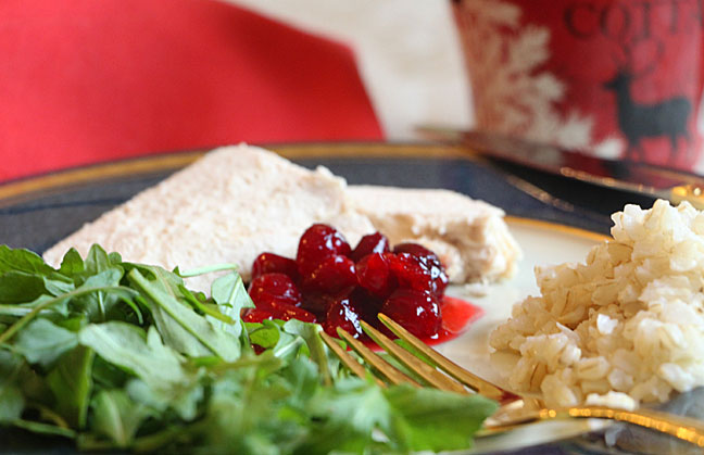 Pickled Cranberries with Chicken