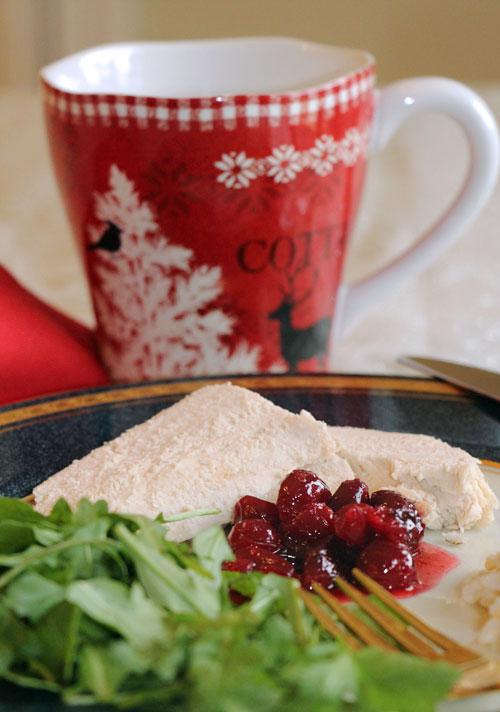 Pickled Cranberries, Served