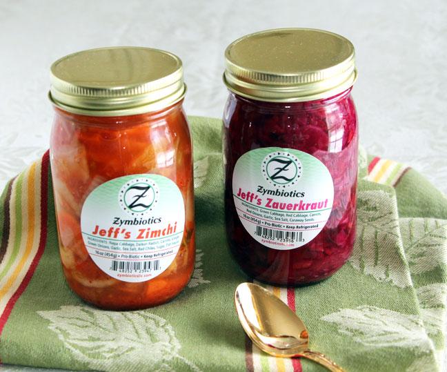 Zymbiotics Sauerkraut and Kimchi