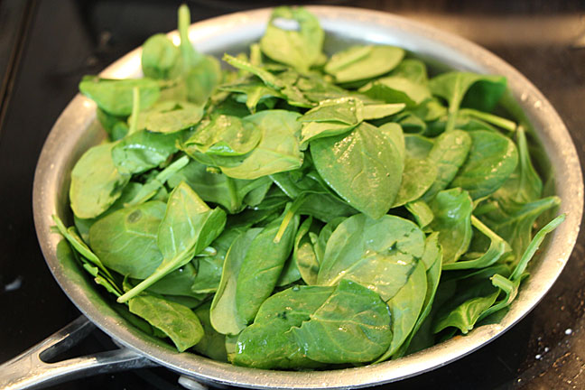 Wilt the spinach