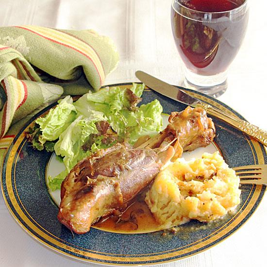 Guinness Lamb Shank, Served