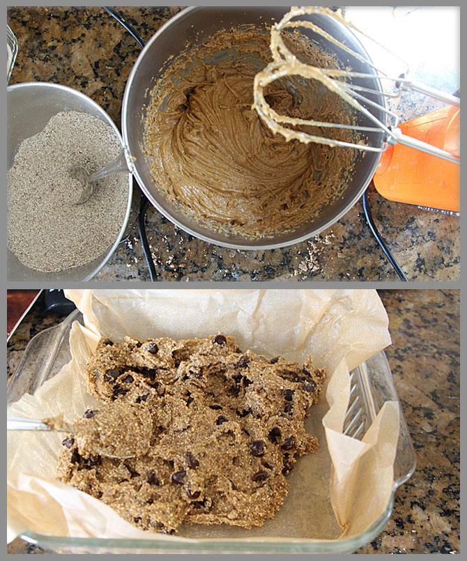 Chocolate Chip Quinoa Blondie Prep Work