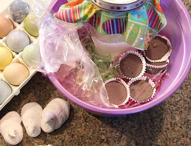 completely homemade Easter basket