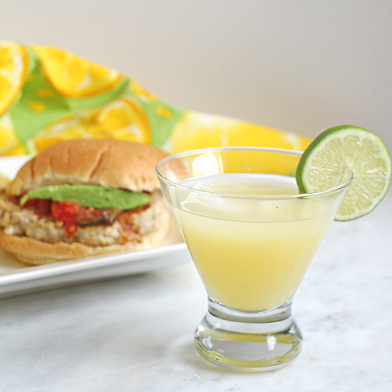 Chicken Pattie with All Natural Margarita