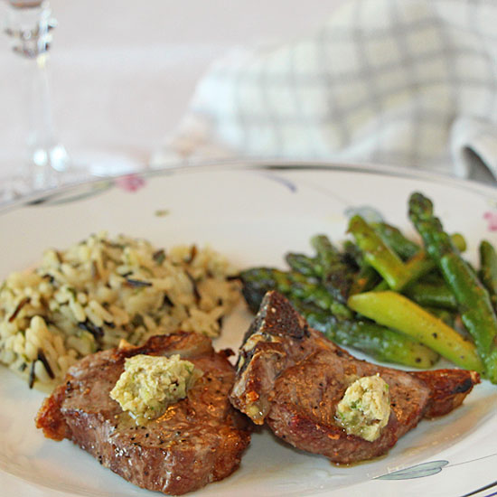 Compound Butter with Lamb Chops