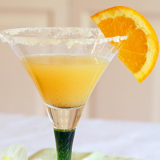 Dreamsicle Martini with sugared rim