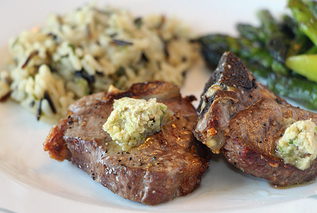 Ramp and Wild Mushroom Compound Butter