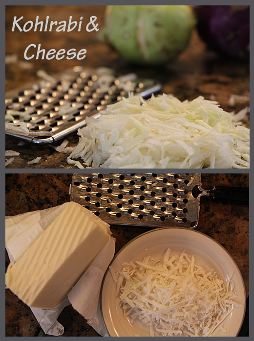 Grated Cheese & Kohlrabi