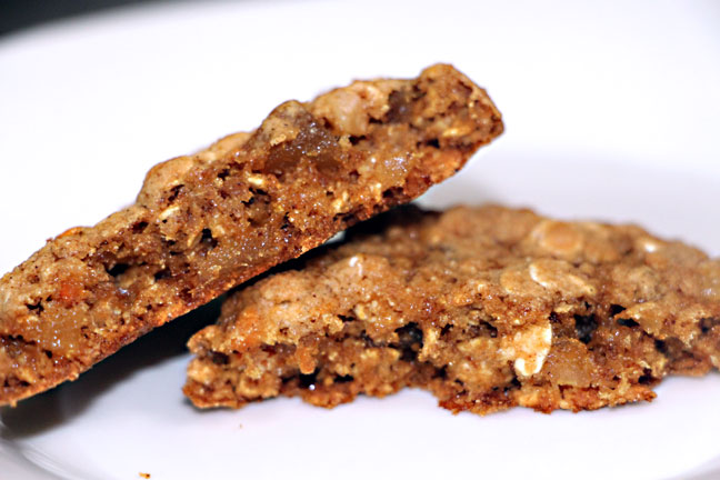 Whole Grain Ginger Chunk Cookie Closeup
